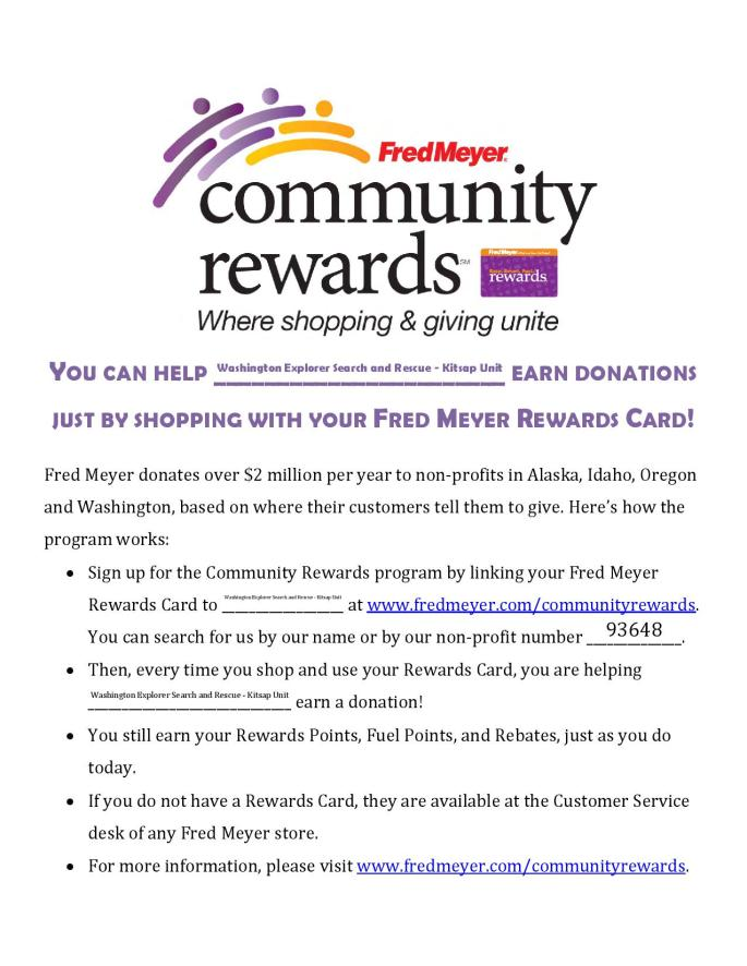 Kitsap WESAR - Fred Meyer Community Rewards Flyer
